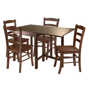 Lynden 5 Piece Dining Table with 4 Ladder Back Chairs