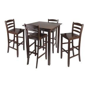 Parkland Five-Piece High Table with 29-Inch Ladder Back Stools