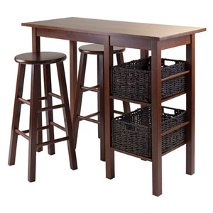 Egan 5 Piece Breakfast Table with 2 Baskets and 2 Stools