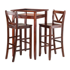 Halo 3 Piece Pub Table Set with 2 V-Back Stools