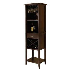 Palani Walnut Wine Tower