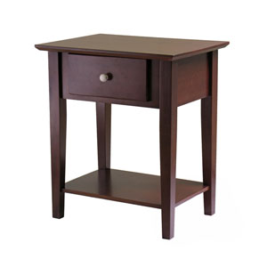 Shaker Antique Walnut Night Stand with Drawer