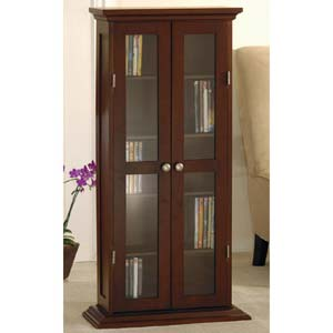 CD/DVD Cabinet with Glass Door