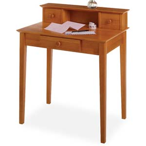Honey Pine Writing Desk