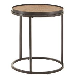 Cliff Gray Oak Round End Table