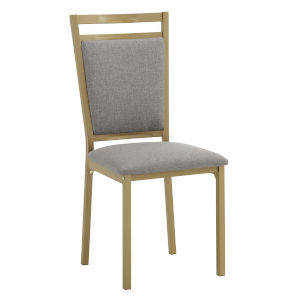 Stacy Gold and Gray 20-Inch Dining Chair, Set of Four