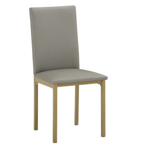 Stacy Gold and Gray 19-Inch Dining Chair, Set of Four