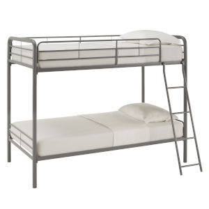 Brandy Gray Twin Over Twin Bunk Bed