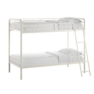 Brandy White Twin Over Twin Bunk Bed