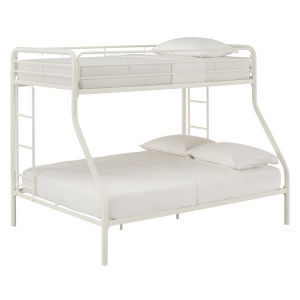 Brandy White Twin Over Full Bunk Bed