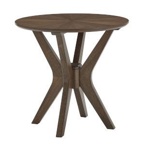 Luka Walnut Round End Table