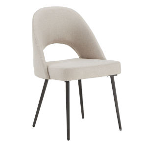 Xavier Beige and Black Dining Chair, Set of Two