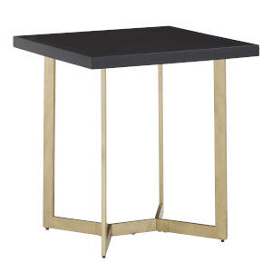 Helena Black and Gold End Table