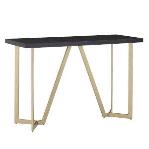Helena Black and Gold Sofa Table