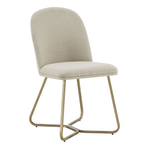Helena Gold and Beige Dining Chair, Set of Two
