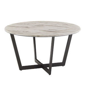 Danica White Faux Marble Coffee Table