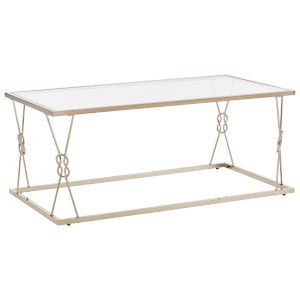 May Champagne Gold Knot Frame Coffee Table