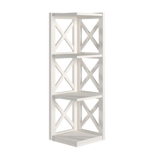 Tanya White X-Frame Three-Shelve Bookcase