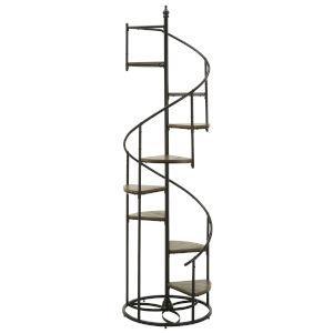 Carter Black Spiral Staircase Display Shelf