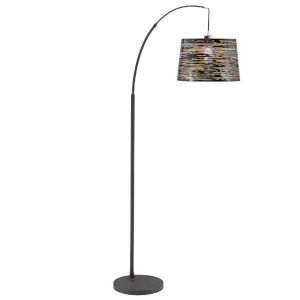 Quinn Black One-Light Arched Floor Lamp
