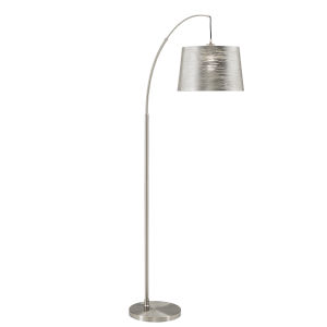 Quinn Polished Nickel One-Light Arched Floor Lamp