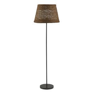 Blaine Matte Black and Brown One-Light Floor Lamp