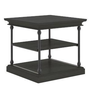 Vernal Black Storage Side Table