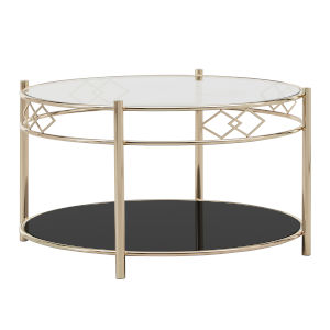 Wallace Gold amd Black Tempered Glass Cocktail Table