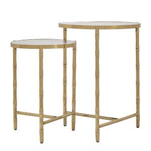 Milo Gold Nesting Table Set