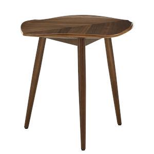 Pyrrha Leaf Walnut End Table