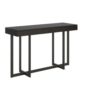 Hunter Black Sofa Table with Two Drawer