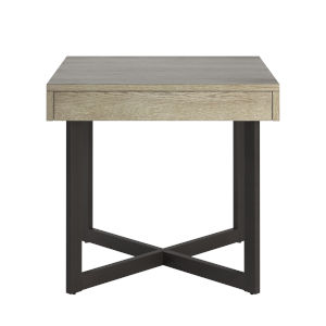 Hunter White End Table with One Drawer