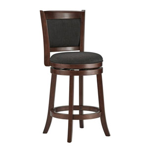 Romeo Dark Grey Swivel Counter Stool
