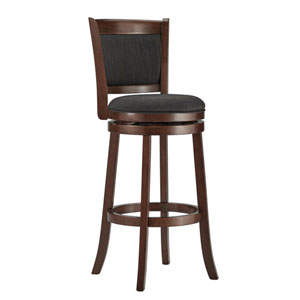Romeo Dark Grey Swivel Bar Stool