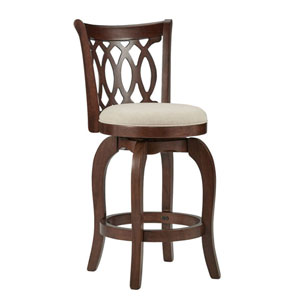 Juliet Beige Swivel Counter Stool