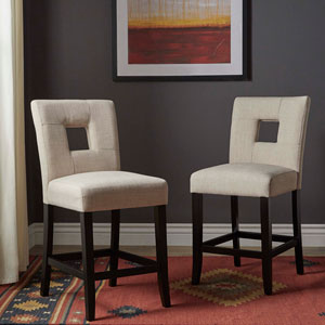 Jacot Keyhole Counter Chair, Set of 2