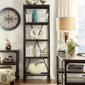 Cooper Rustic Industrial Bookshelf
