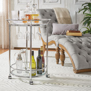 Althea Round Serving Bar Cart