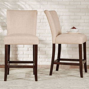 Fitch Bisque Parson Linen Counter Stool Set of 2