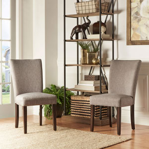 Fitch Smoke Parson Linen Side Chair, Set of 2