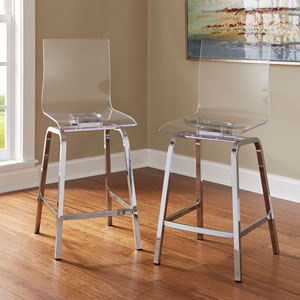 Seneca Acrylic Counter Chair, Set of 2