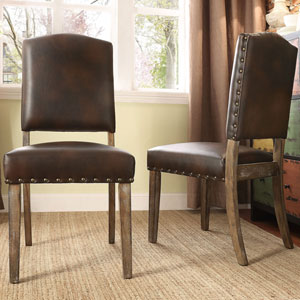 Needham Cocoa Shield Back Dining Chair, Set of 2