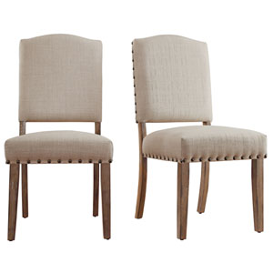 Needham Bisque Shield Back Dining Chair, Set of 2
