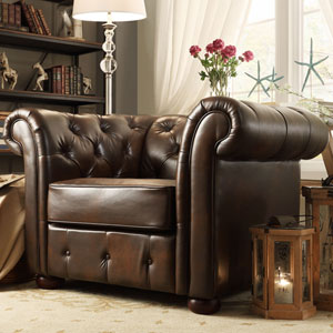Norfolk Cocoa Chesterfield Arm Chair