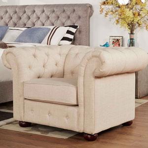 Norfolk Bisque Chesterfield Arm Chair