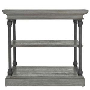 Lubeck Worn Grey End Table