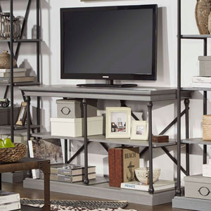 Lubeck Worn Grey TV Stand Console