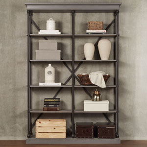 Lubeck Worn Grey Bookshelf