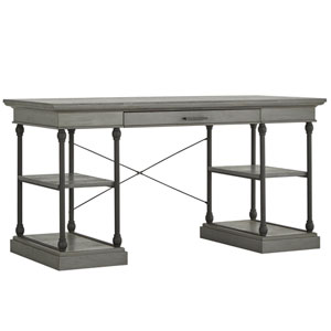 Lubeck Worn Grey Writing Desk