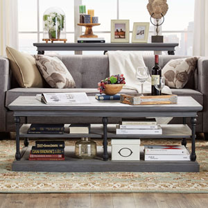 Lubeck Worn Grey Cocktail Table